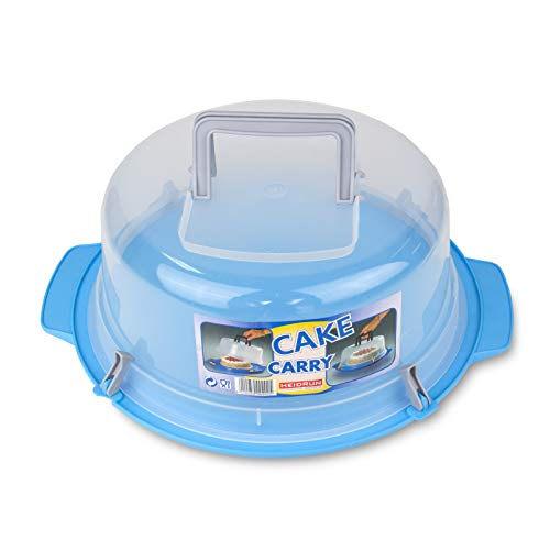 Heidrun – Base para Tartas con Asas y Tapa de plástico 35 x 15 cm
