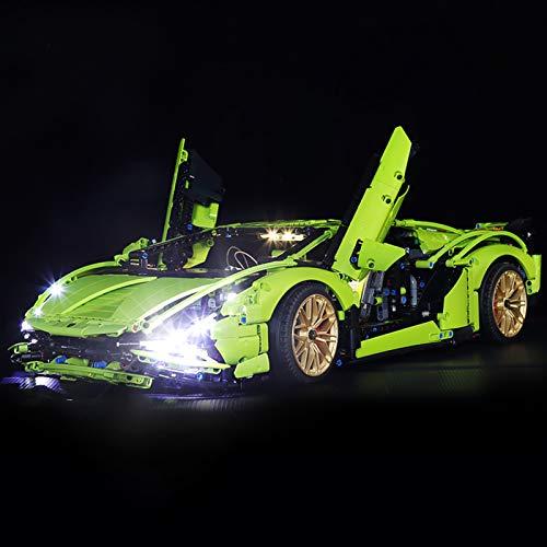icuanuty Kit De Iluminación LED para Lego 42115 Technic Lambor Sián FKP 37 Race Car (No Incluye El Juego Lego)