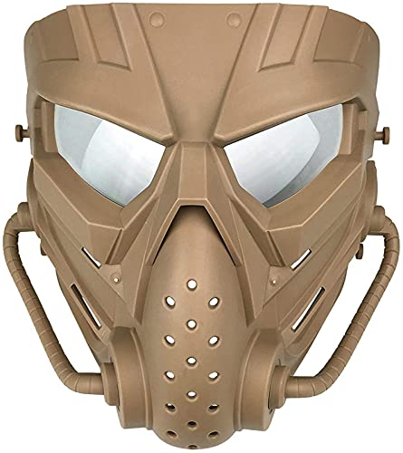 WSYGHP Airsoft Mask Máscara táctica de Cara Completa con protección para los Ojos y Anti-Impacto Airsoft Paintball Halloween Movie Aparts y Otras Actividades al Aire Libre Negro máscara de Oni