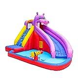L.TSN Château Gonflable, Château Gonflable pour Enfants, Gonflable Bouncer Bounce House Water Slide Escalade Mur Trampoline Enfants Water Park Pataugeoire, 400X300X265cm,