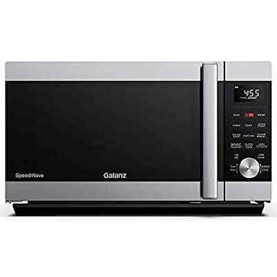 Galanz GSWWA12S1SA10 3-in-1 SpeedWave with TotalFry 360, Microwave, Air Fryer, Convection Oven with Combi-Speed Cooking, 1.2 Cu.Ft/1000W, Ft, Stainless Steel