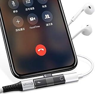 Adaptador Duplo Iphone 7 8 Plus XS-MAX Fone + Carrega Lightning Preto