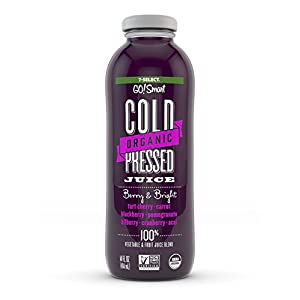 7-Select Organic Cold Pressed Juice - Berry & Bright (14 Oz Glass Bottles, 6-Pack) |