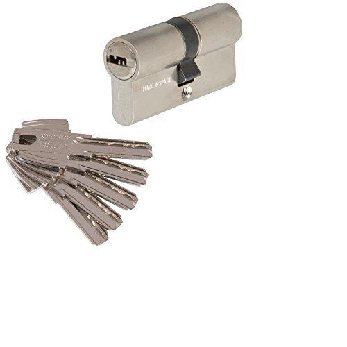 Tesa Assa Abloy M6503030N Serie T60 Cilindro de Seguridad, Niquelado Leva Corta, 6 x 3 x 3 cm