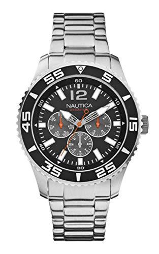 Nautica Reloj Analógico para Hombre de Cuarzo con Correa en Acero Inoxidable A15656G