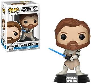 Funko POP! Star Wars: The Clone Wars - Figuras de vinilo, Obi-Wan Kenobi, Estándar