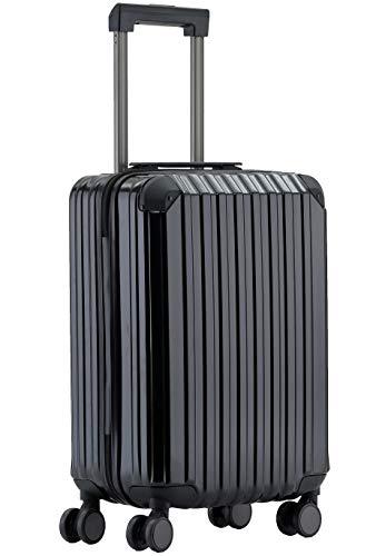 Münicase M816 TSA-Schloss Koffer Reisekoffer Trolley Kofferset Hardschale Boardcase (Schwarz, Kleiner Koffer)