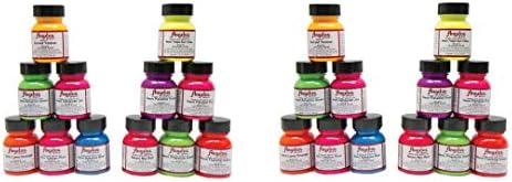 Angelus Neon Leather Paint 1oz 12 Color Set