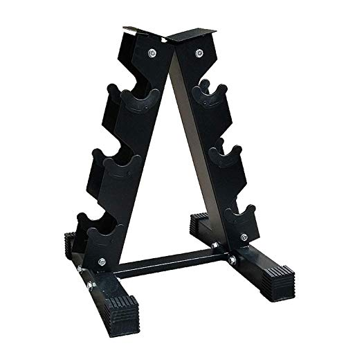 YYLL Lagerregale Durable Stahl Hantel Storage Rack for Fitness Gewichte Bar A-Frame Dumbbellgewicht Ausrüstung Zubehör Rack (Color : Black)
