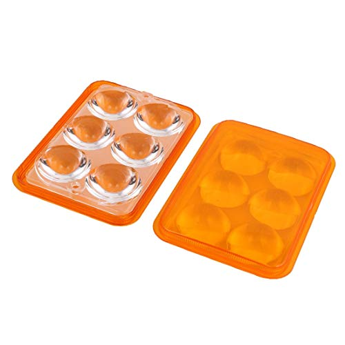 New Lon0167 2Sets PMMA Featured 6 LED Optical reliable efficacy Lens 93% Transmittance w Square Orange Cover for Lights(id:e4b 5c 41 277) -  62f43964-3c09-79cd1d969eee89