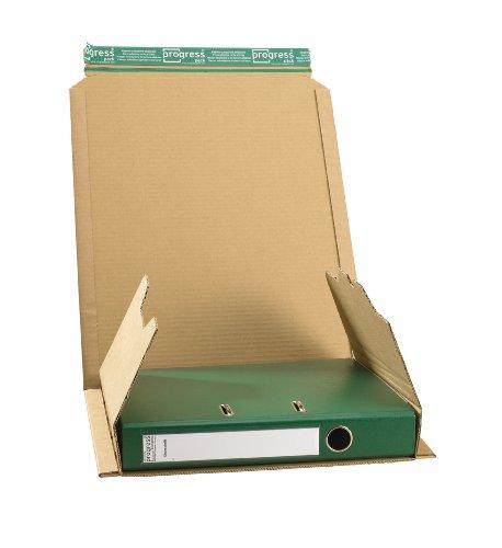 progressPACK Ordnerversandverpackung Premium PP O05.01 aus Wellpappe, DIN A4, 320 x 290 x bis 80 mm, 20-er Pack, braun