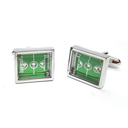 Football Pitch Cufflinks X2PSN007 by GTR-Prestige Giftware