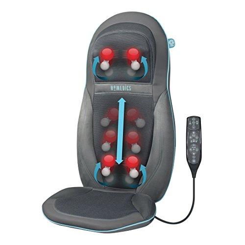 HoMedics gel-massageoplegger – gerichte, diep effectieve shiatsu-rug- en schoudermassage met innovatieve geltechnologie, massage voor de hele rug incl. nekmassage, met warmtefunctie