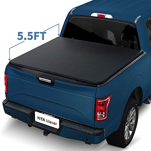YITAMOTOR Truck Bed Tonneau Cover compatible with 2015-2020 Ford F-150 Truck Bed 5.5ft
