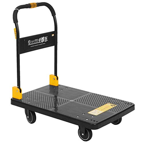 N&S Carro de plataforma de transporte para cargas pesadas, 350 kg, plegable con una sola mano, para camión o camión con ruedas Mute Wheels