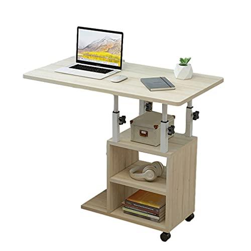Overbed Table Laptop Desk Medical Table Portable Computer Bed Soffa Soffa Sida Hospital Bedside Home Reading Frukost Industriell Med Hjul 80x40cm Varvstående skrivbord