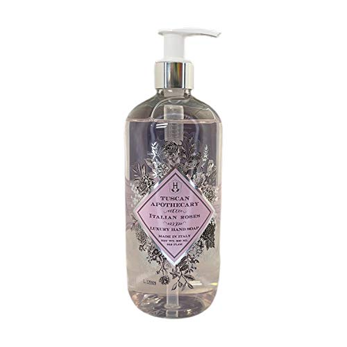HOPIFICIO – Luxury Liquid Hand Soap: Hypoallergenic, Sulfate-free, Regenerating, Moisturizing & Gently Cleansing Liquid Soap, 16.9 Fl Oz (Italian Roses)