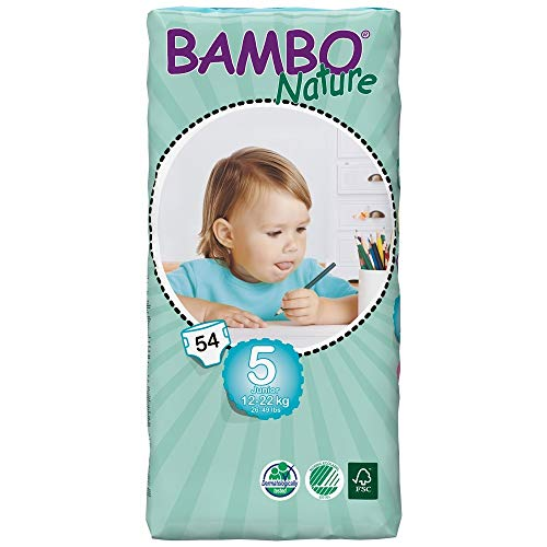 Bambo Nature - Junior Eco luiers, 12-22 kg 54 servetten Size 5 / Junior