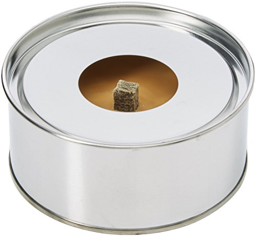 Lila Kerze Fackel Kerzen, Metall, silber Metall Dose, 10x 10x 4,5cm