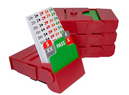 Baron Barclay Bid Pal – Bridge Bidding Devices for The Card Game Bridge – Set of 4