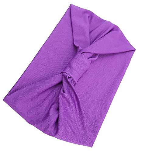 Cintas giratorias, cintas anchas antideslizantes elásticas para yoga, correr, senderismo, ciclismo(púrpura)