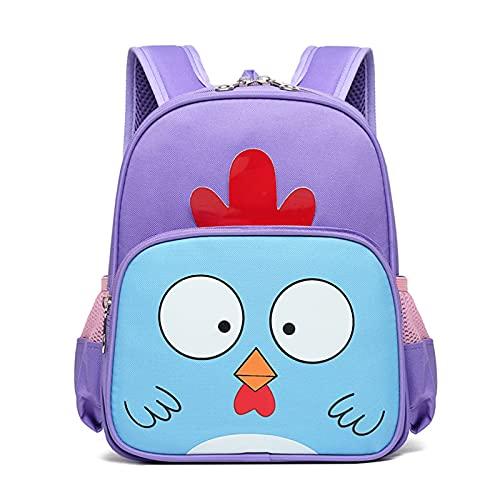 Qolcsxa Chick Mochila Infantil Dibujos Animados Bonitos Mochila Escolar Gran Capacidad Resistente al Agua Mochila para Libros para Niños y Niñas de 4 a 8 Años