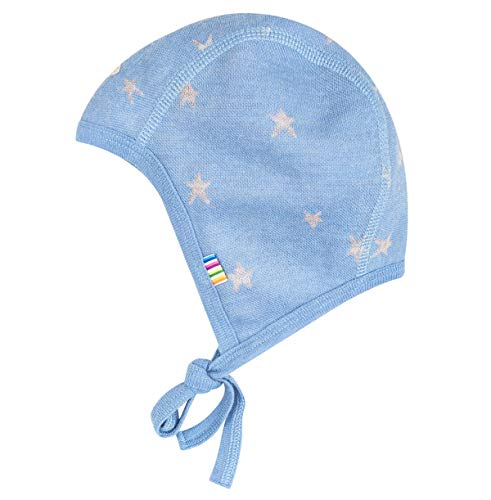 Joha - Bonnet Chapeau de bébé Preemie garçons Falling Star en Laine mérinos en Bleu - Bleu, Ku 48 (GR. 80)