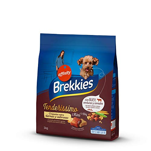 Brekkies Pienso Tenderissimo para Perros Mini con Buey, Verduras y Cereales - 1 kg