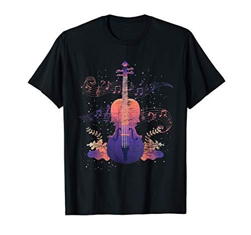 Musik Noten Violinisten Geschenk Violine T-Shirt