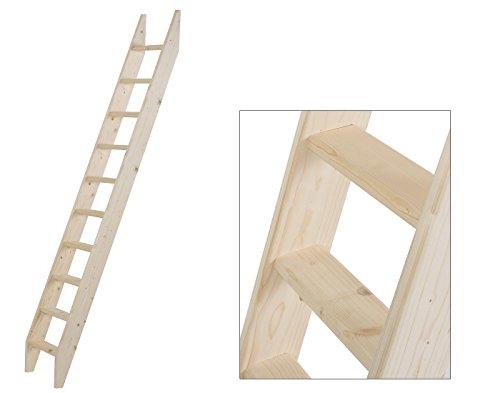 Intercon® Holztreppe aus Fichte Massivholz in 4 Größen (145, 190, 240, 260 cm) (10 Stufen (240 cm))