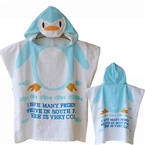 Kind Poncho Handdoek voor Strand Leuke Cartoon Patroon Hooded Badhanddoek Unisex Kid Baby Organisch Katoen Super Absorbens Wetsuit Badpak Veranderende Handdoek Beach Badjas Peuter Jongen Vrouwelijke zachtheid en Comfor