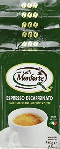Caffè Monforte entkoffeinierter gemahlener Kaffee, 1er Pack 500g (2 x 250 g)