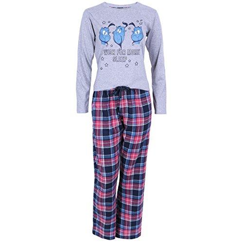 Disney - Aladdin Dschinni Damen Mädchen Schlafanzug Pyjama Nachtwäsche Blau/Grau - 32-34 / UK 6-8 / EU 34-36