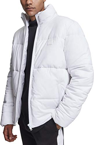 Urban Classics Herren Boxy Puffer Jacket Jacke, Weiß (White 00220), Large