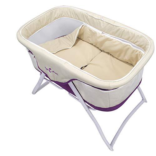 3-in-1 Baby Babybett Beistellbett Reisebett inkl. Moskitohaube, Matratze und Tasche – alle Farben (Violett) - 4