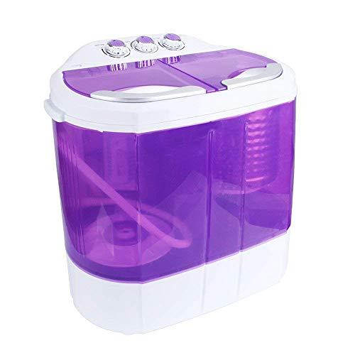 Display4top 3,6 KG Waschmaschine Mini Waschmaschine - Europäischer Standardstecker(Lila)