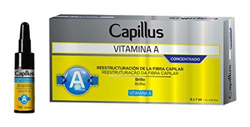 Capillus Vitamin A – Set mit Ampullen Konzentrat Zusammensetzung der Haarfaser – Packung mit 6 Ampullen x 7 ml – Gesamt: 42 ml