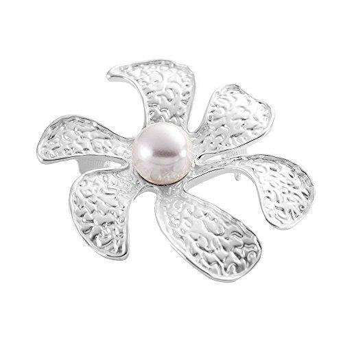 Sincera SCHMUCK Damen Elegant Modeschmuck Broschen Perlen (Mother of Pearl) Silber Brosche Geschenk.