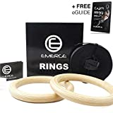 Emerge Wooden Olympic Gymnastics Rings Bodyweight Home...