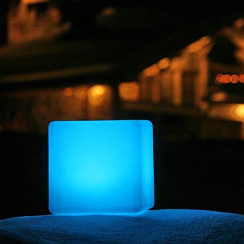 ENAL1 Silla romántica lámparas regulables 16 LED RGB del taburete del cubo de luz LED recargable control remoto colorido cúbico de asiento for el banquete de boda Home Bar Jardín RC luz del hu
