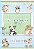 Mes premières notes: Carnet de notes original pour bébé ou futurs parents - Idée cadeau pour future maman ou papa pour noter les souvenirs de bébé - 100 Pages Lignées en pointillés (O'Clair de lune)
