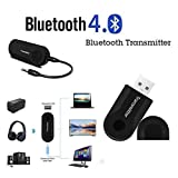 Etason Wireless Bluetooth 4.0 Transmitter with 3.5mm Audio Connector for Mobile Phone, MP3