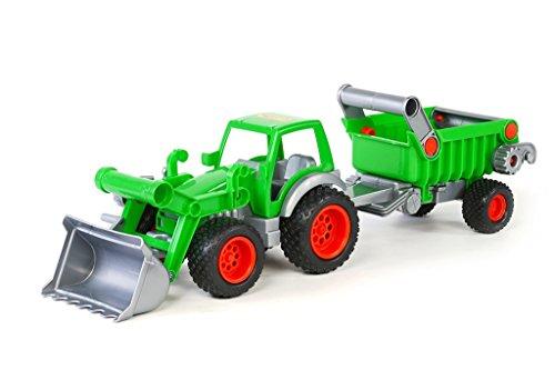 Wader Farmer Technic Traktor mit Frontlader und Anhänger