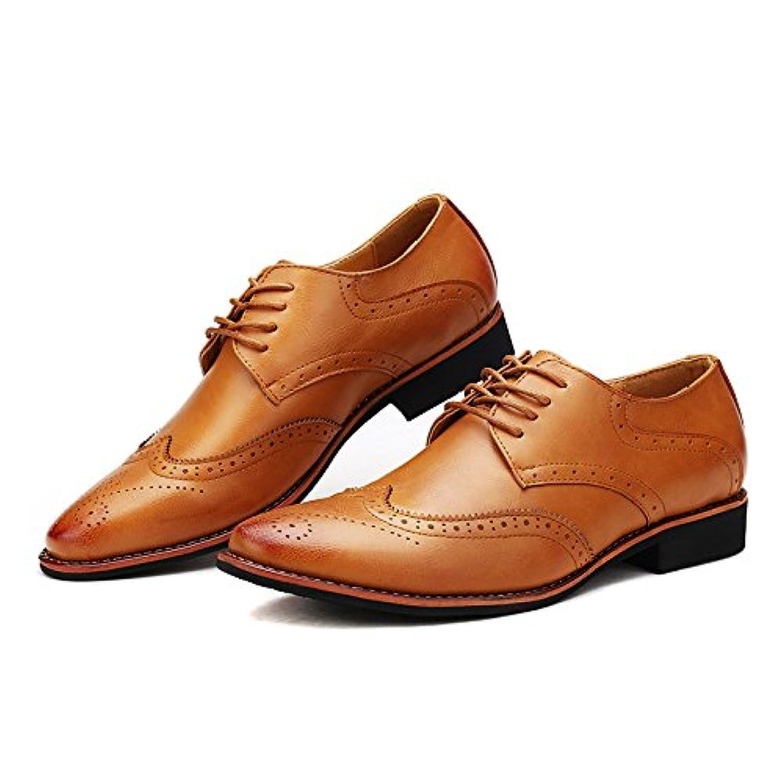 [joylanding] 革靴 メンズ ブローグシューズ 紳士靴 本革 牛革 レースアップ カジュアル ビジネスシューズ レザーシューズ