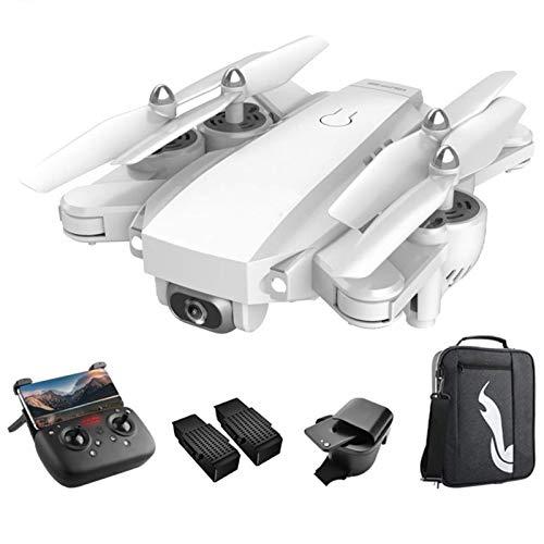 J-Love Drone con cámara para Adultos 4K Full HD FPV Video en Vivo 120°Gran Angular, Funciones waypoints RC Quadcopter con 2 baterías y Mochila