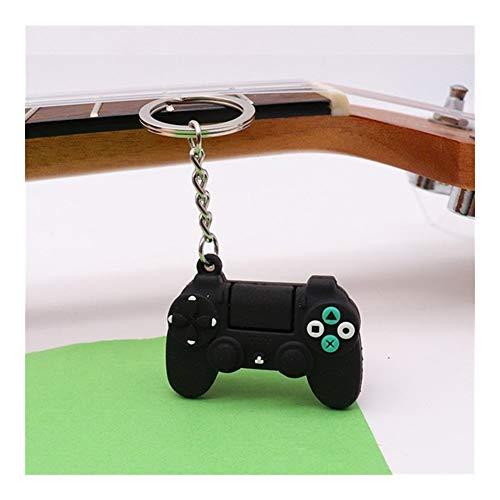 Hombres Simple de Videojuegos manija Pareja Palanca de Mando de la máquina for el Novio Llavero Key Holder baratija del Regalo (Color : Black)