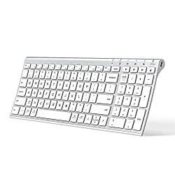 powerful iClever BK10 Bluetooth keyboard, multifunction keyboard, rechargeable Bluetooth 5.1 with numeric keypad…