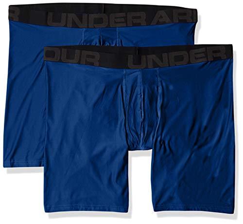 Under Armour Men's Tech 9-inch Boxerjock 2-Pack , Graphite Blue (581)/Graphite Blue, Small