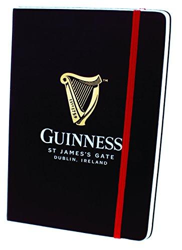 Guinness Trachten-Notizbuch mit Harp-Design und rotem Gummiband