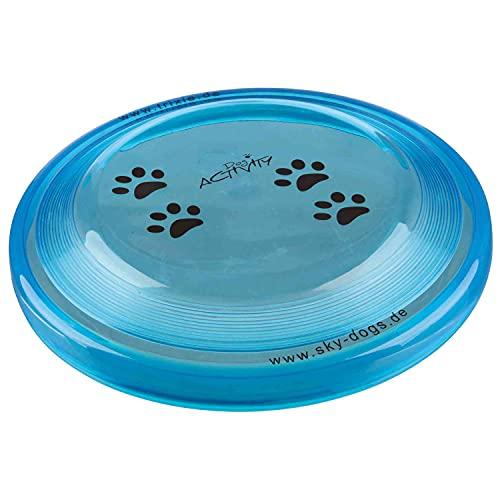Trixie Dog Activity Disc Dog Bite-Proof, Gioco per cani, Diametro 23cm, Colori assortiti, 1 pezzo